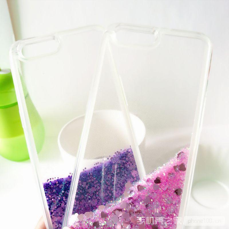oppoR11紫色粉色流沙手机壳