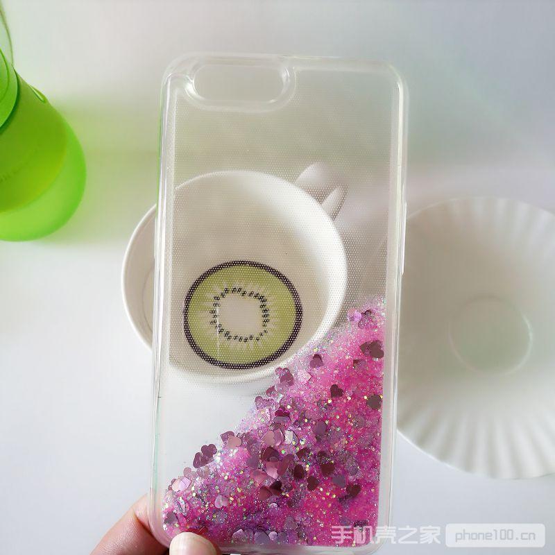 oppoR11粉色流沙手机壳
