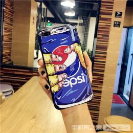 握手百世可乐手机壳oppor9splus浮雕彩绘r11壳套A59/57批发代理