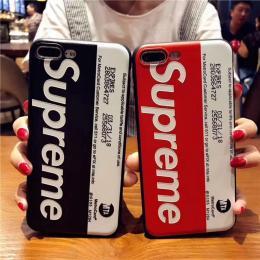 supreme黑白红白,苹果5浮雕TPU手机壳OPPOR9SPLUS皮纹软壳VIVOx9sp