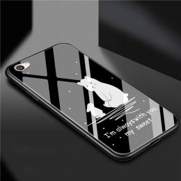 小白熊玻璃手机壳
