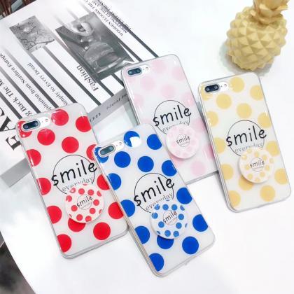 韩风Smile滴油气垫支架手机软壳