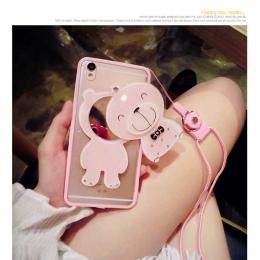 小熊镜子二合一DIY手机壳