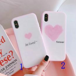 forever be loved大小爱心玻璃系手机壳