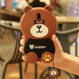 小熊布朗熊硅胶手机壳(带挂绳)