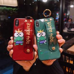青蛙蓝光手带手机壳