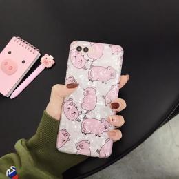 粉色小猪贝壳纹印图手机壳,批发零售招代理