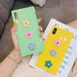 糖果色菱格纹小花朵DIY手机壳