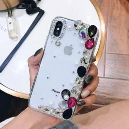 砖石DIY手工贴珠子点砖手机壳