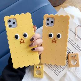 黄色饼干硅胶软壳手机保护套