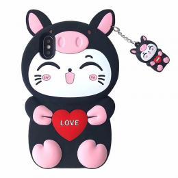 猪猪猫硅胶软壳手机保护壳套