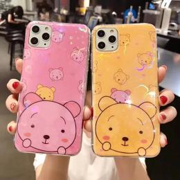 卡通炫彩IMD熊软壳软边手机壳